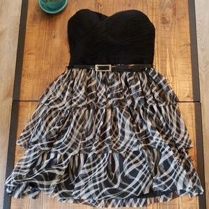 Strapless black and white Aqua dress
